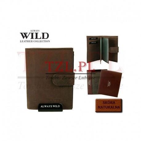 PortfelAlways Wild N890L-MHU Brązowy