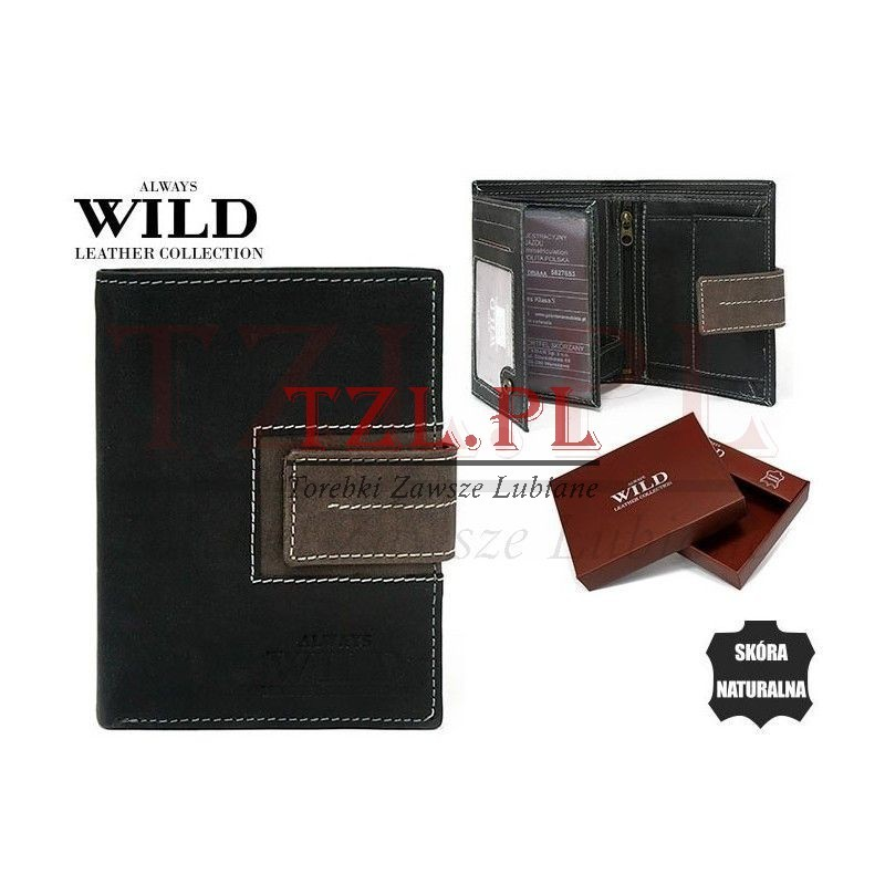 Portfel Always Wild N4L-SQ Czarny