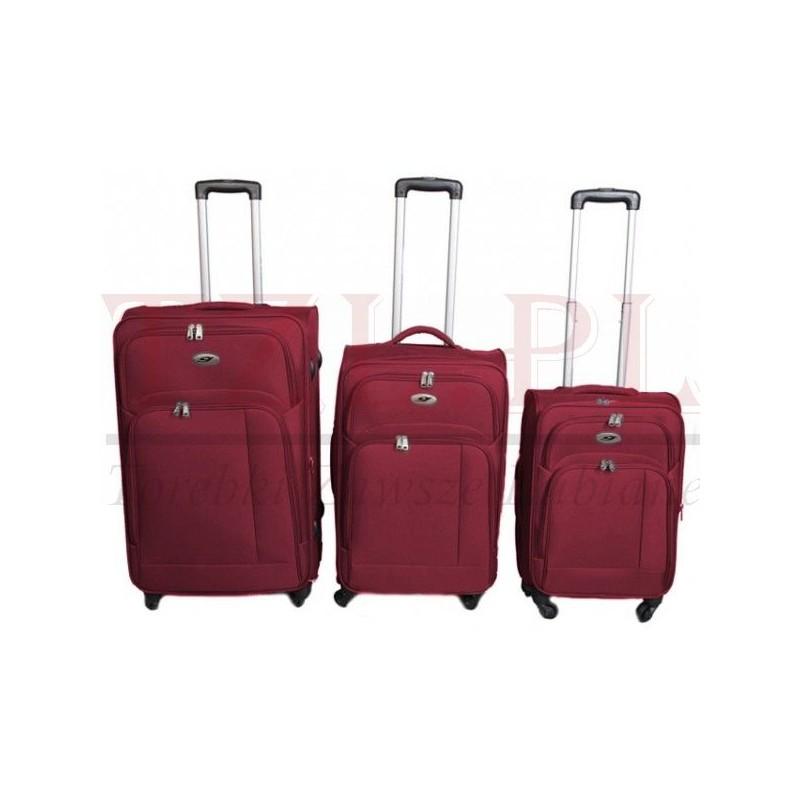 Duża walizka Gravitt G618F Czerwona