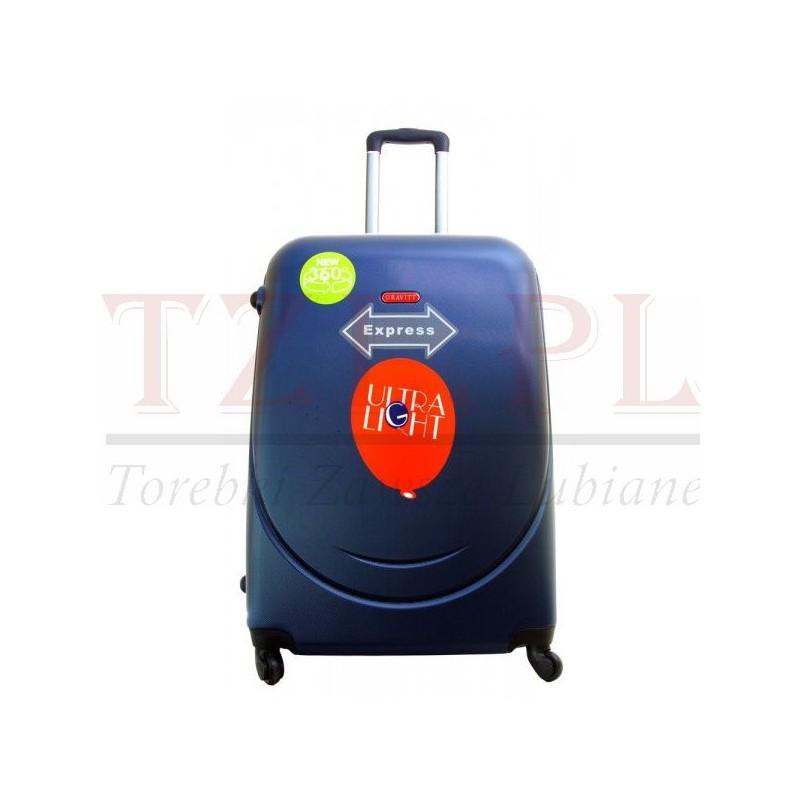 Duża walizka Gravitt 310 Granatowa
