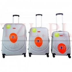 Duża walizka Gravitt 310 Metaliczna