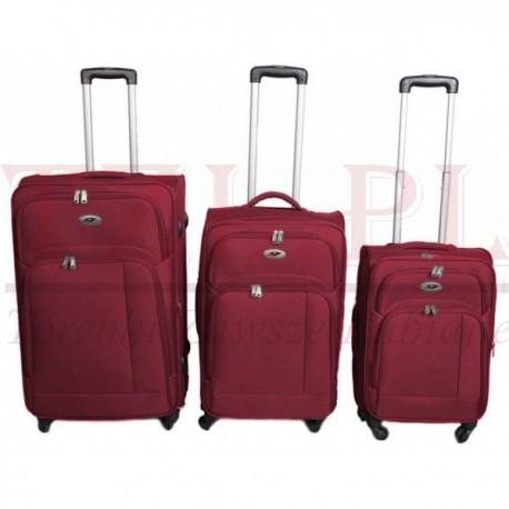 Mała walizka Gravitt 618F Czerwona