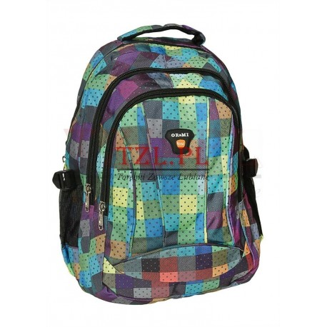Plecak OR&MI 1827 Kolorowa Kratka