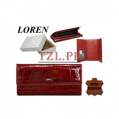 Portfel Loren 74507-CB Czerwony