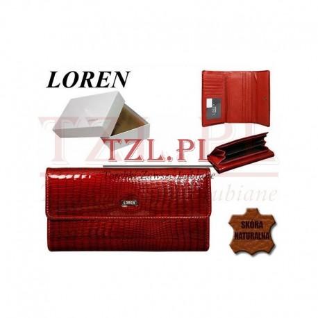 Portfel Loren 74507-RS Czerwony