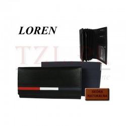 Portfel Loren D7-NYC Czarny