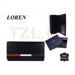 Portfel Loren D7-NYC Granatowy