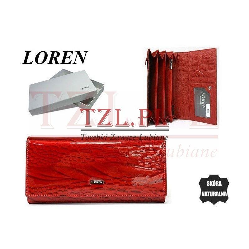 Portfel Loren GD27-RN Czerwony