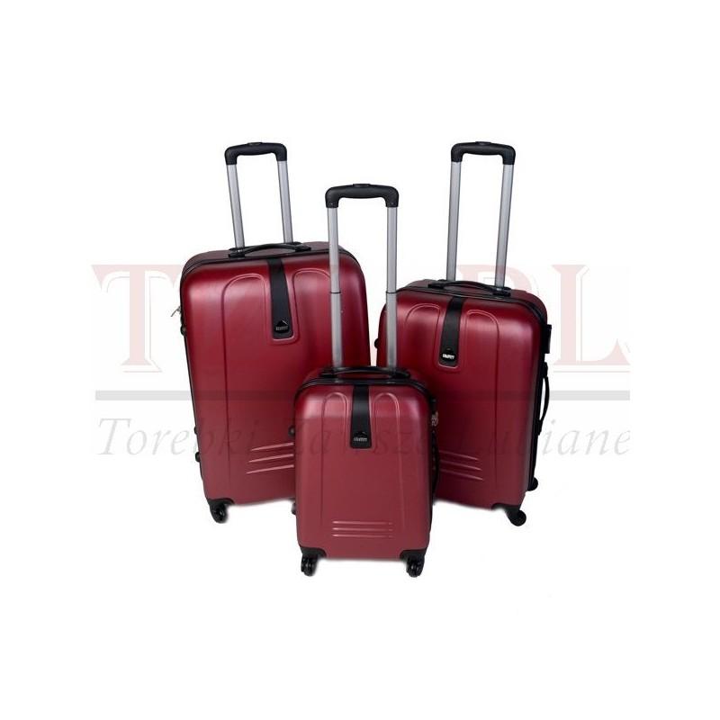 Średnia walizka Szyk 168 Bordowa