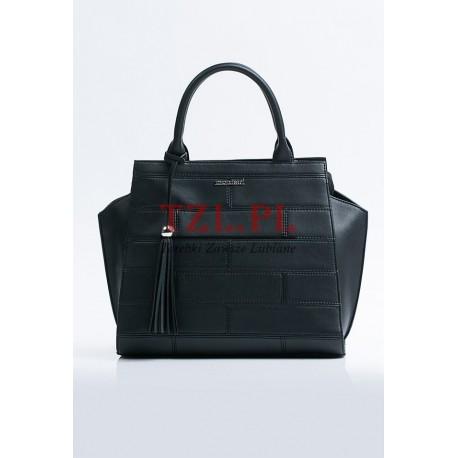 c007e056d581e Torebka Monnari Czarna klasyczna kuferek B530