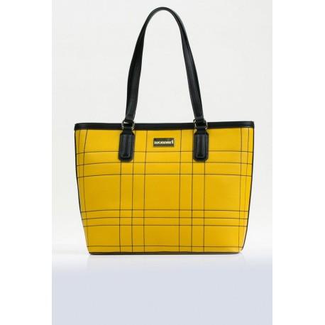 Torebka Monnari żółta z czarnymi wstawkami klasyczna 2940
