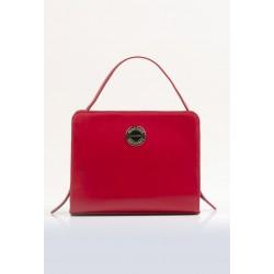 Torebka elegancka czerwona Monnari kuferek 3160