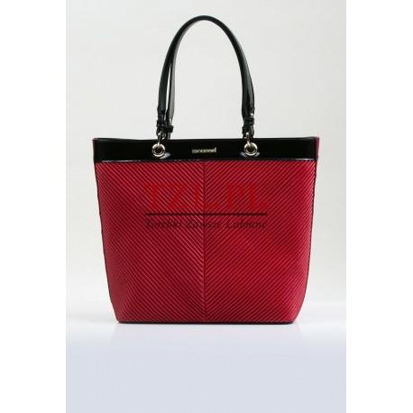 Torebka Monnari Czarna z czerwonym klasyczna shopperka 3700