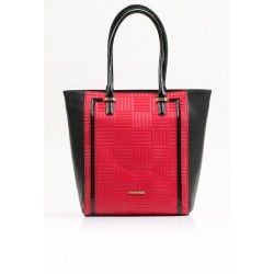 Torebka Monnari 3550 Czerwona z czarnym klasyczna  3550