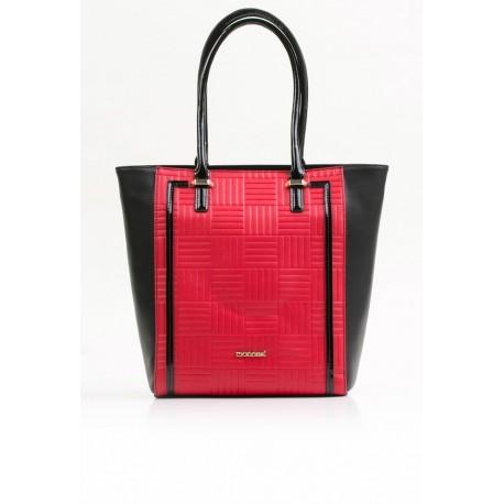 Torebka Monnari  Czerwona z czarnym klasyczna  3550
