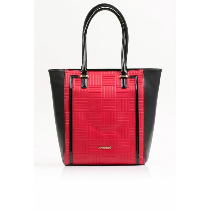 Torebka Monnari 3550-M20 Czerwona z czarnym