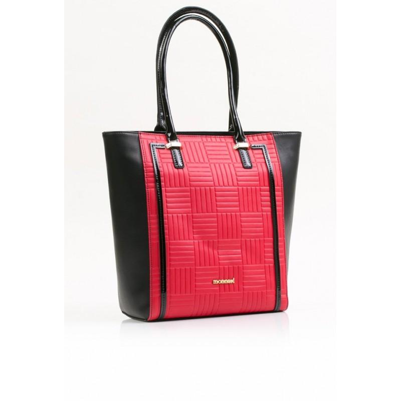 2a09eb1df6930 Torebka Monnari Czerwona z czarnym klasyczna 3550