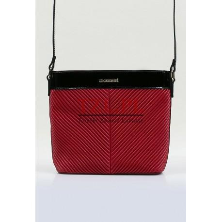 Torebka Monnari czerwona z dodatkiem czarnego listonoszka 3690