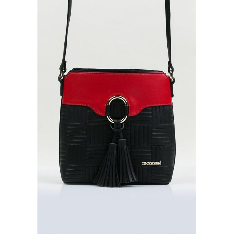 Torebka Monnari 3710-005 Czerwona z czarnym