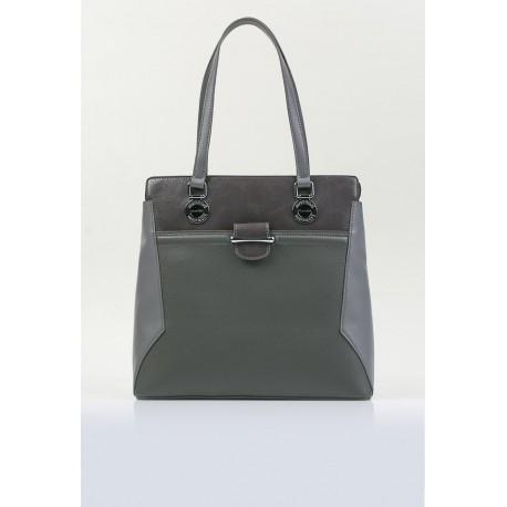 Pojemna torebka klasyczna Monnari szara elegancka 2950
