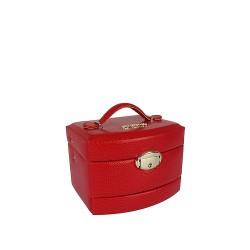 Szkatułka na biżuterię 0421-005 Czerwony