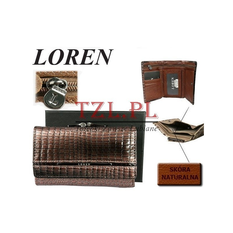 Portfel Loren N23-1-RS Brązowy