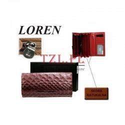 Portfel Loren N24-1-CB Różowy
