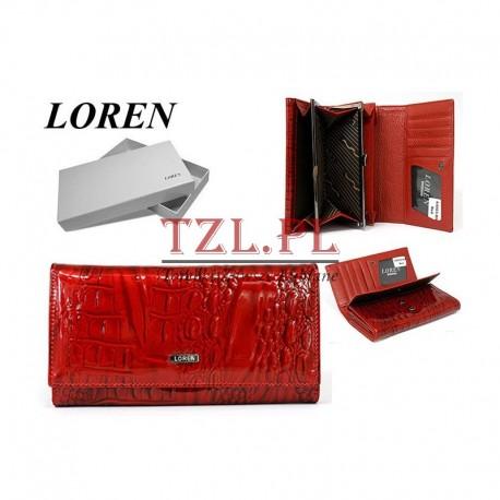 Portfel Loren 64003- RN Czerwony