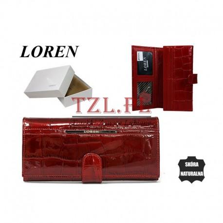 Portfel Loren damski skórzanyCzerwony JP-515-CB