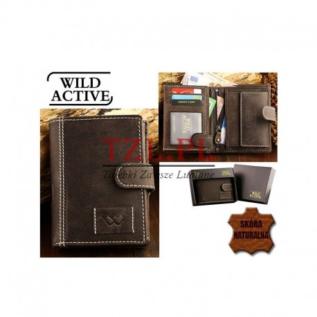 Portfel Wild Active N4L-WA1 Brązowy