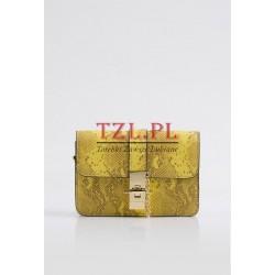 Torebka Monnari mała, żółta z biżuteryjnym zapięciem 0910