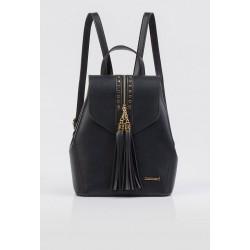 Plecak czarny Monnari z frędzlami 1150