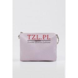 Torebka Monnari różowa listonoszka z geometrycznym wzorem 3270