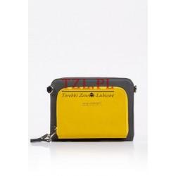 Torebka Monnari kopertówka szara z żółtym 7020