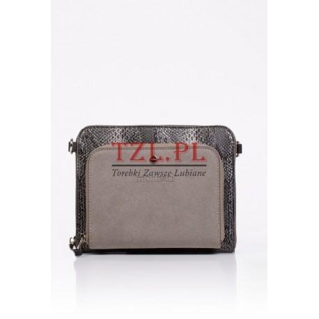 Torebka Monnari kopertówka szara ze srebrnym 7020